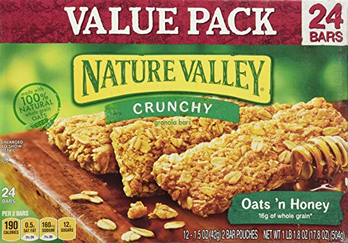 Nature Valley Crunchy Granola Bars Oats 'n Honey Value Pack - 24 ct (Nature Valley Oats And Honey compare prices)