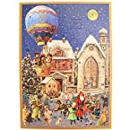 Victorian Church Advent Calendar Card