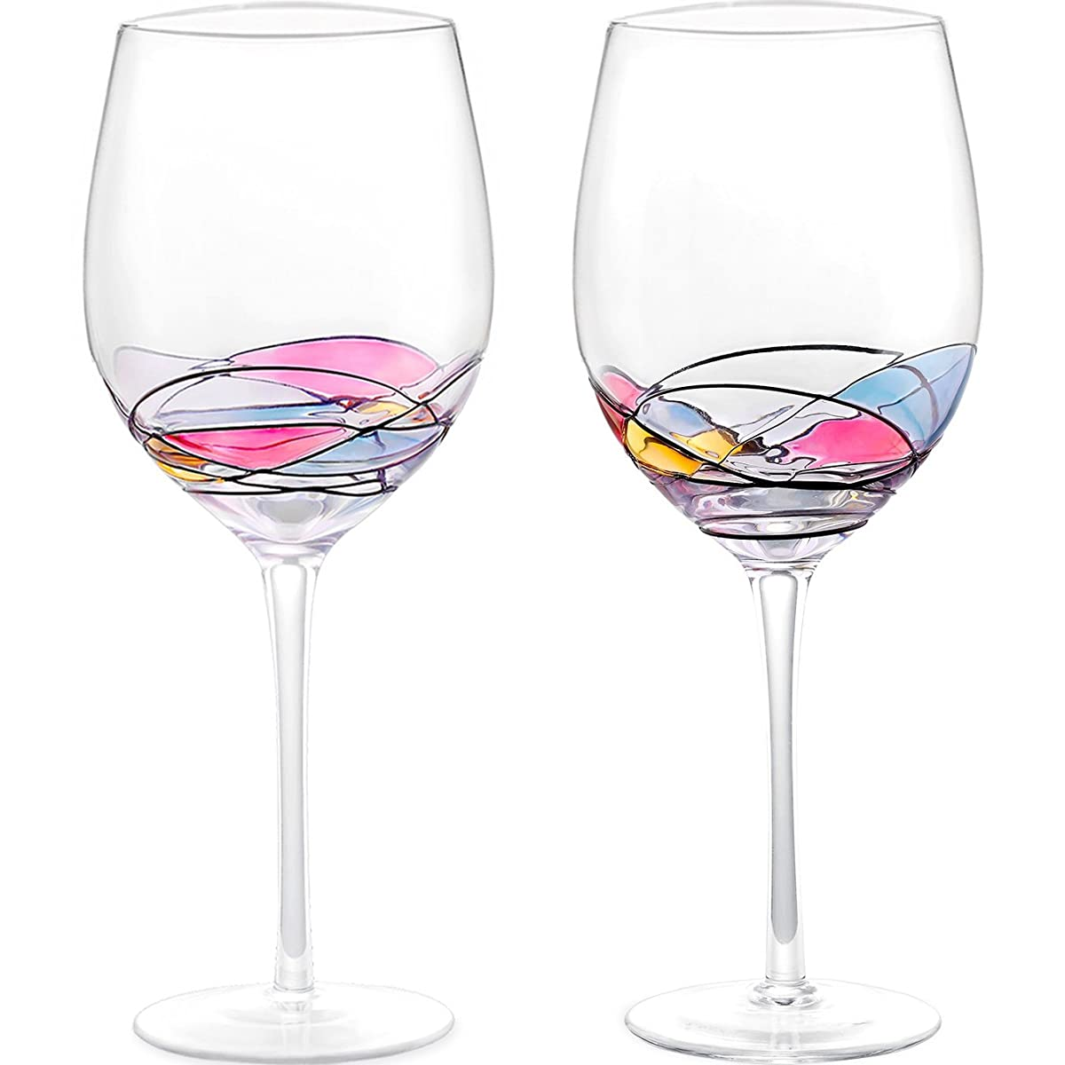 Wine Glass - Unique Hand Painted