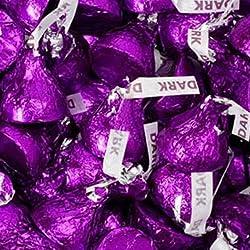 Purple Hershey's Kisses Dark Chocolate Candy 1LB Bag