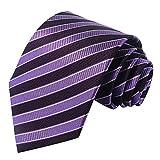 Raya negro puro de los hombres clásicos tejidos de corbata corbata de seda
