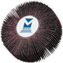 Mercer Abrasives 365180-10 Flap Wheels, Mounted 3-Inch by 1-Inch by 1/4-Inch, 180 Grit, 10-Pack