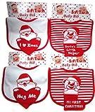 Baby bandana bib christmas my first xmas snowman santa my first xmas Soft touch (Hug Me)