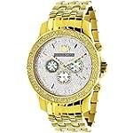 Yellow Gold Tone Watches: Luxurman Me...