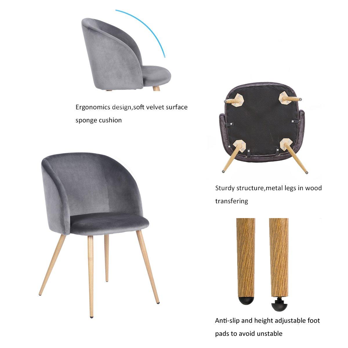 Eggree Mid Century Modern Velvet Accent Living Room Chair