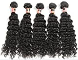 Junhair 5A Chinese Virgin Human Hair Weft Deep Wave 3pcs/lot 300gram Natural Colour