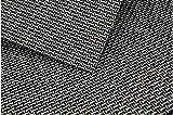 Placemats, Heat-resistant Placemats PVC Placemats Woven Vinyl Placemats Stain Resistant Anti-skid Non-slip Table Mats,Set of 4(Black+gold)