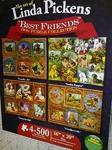 Karmin International Dog Collection 500-Piece Jigsaw Puzzle, 4-Pack