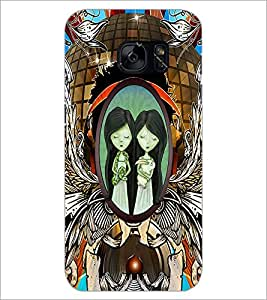 PrintDhaba Twins D-2864 Back Case Cover for SAMSUNG GALAXY S7 (Multi-Coloured)