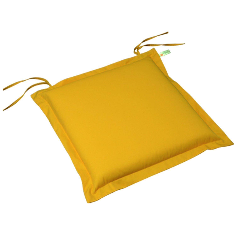 indoba® IND-70444-AUSK-2 – Serie Premium – Sitzkissen Gartenmöbel – extra dick, Gelb – 2 Stück bestellen