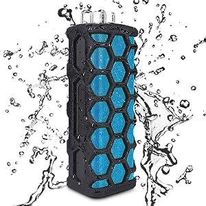 Keedox® Enceinte Portable Stéréo Bluetooth Mini Enceinte Sans fil étanche Résistant aux éclaboussures - Pour le sport, salle de bain