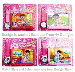 Doc McStuffins Children's Watch Wallet Set For Kids Children Boys Girls Great Christmas Gift Gifts Present - Sold by Happy Bargains Ltd