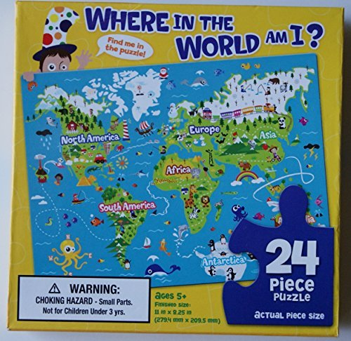 Where in the World Am I 24 Piece Jigsaw Puzzle