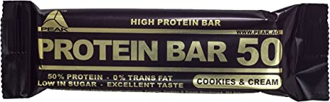 Peak Protein 50 Display - 24 Proteinriegel mit 50% Protein, Cookies&Cream
