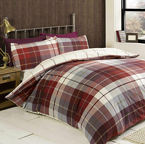 bedding-heaven-reversible-flannelette-duvet-cover-set-checked-lomond-brushed-cotton-quilt-cover-set-