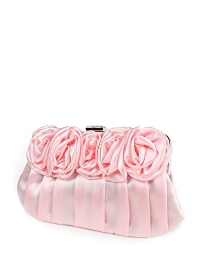 Ever Pretty Flower Pleated Satin Evening Bag