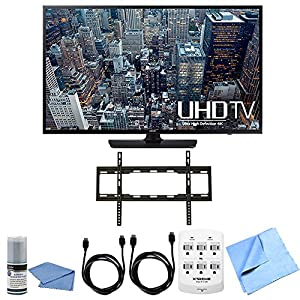 Samsung UN65JU6400 - 65-Inch 4K Ultra HD Smart LED HDTV Flat Mount Bundle