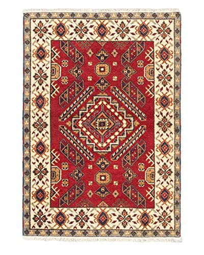 Hand-Knotted Royal Kazak Rug, Red, 4' 1 x 5' 10