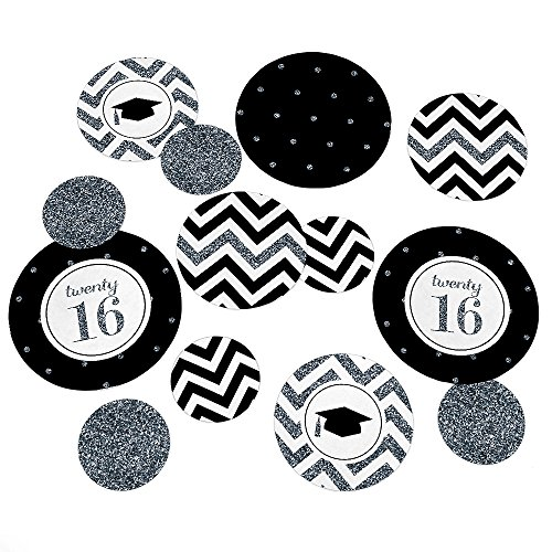 Tassel Worth The Hassle - Silver - Graduation Party Table Confetti Set - 27 Count - 1