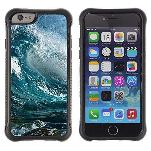 ZAKO Cases / Apple Iphone 6 / Waves Ocean Surf / Robusto Antiurto Custodia Portafoglio Snello caso copertura Shell armatura Case Cover Slim Armor