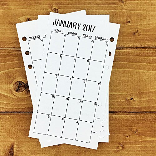 Personal 2017 Monthly printed planner calendar - Mo2P - month on 2 page - monthly calendar (Personal Planner Pages compare prices)