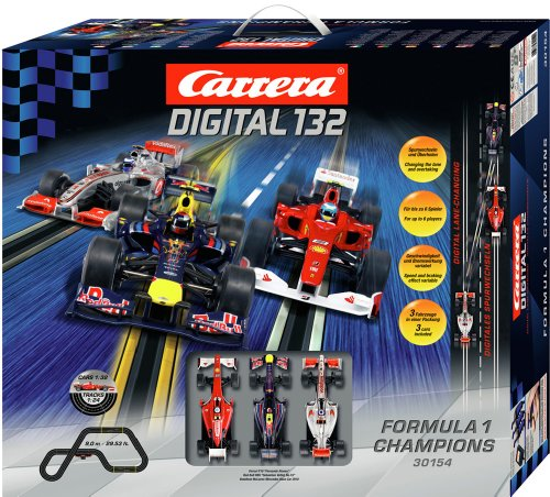 Carrera Digital 132 Formula 1 Champions Race Car Set