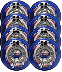 HYPER Inline Wheels OUTDOOR REC FITNESS HOCKEY 76mm 82A ASSAULT XT 8-PACK by Hyber Wheels