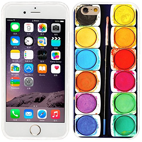 iPhone 6 Case, iphone 6 4.7 case,iphone6 case ,ChiChiC full Protective unique Stylish Case slim flexible durable Soft TPU Cases Cover for iPhone 6 4.7 inch,colorful watercolor painting box