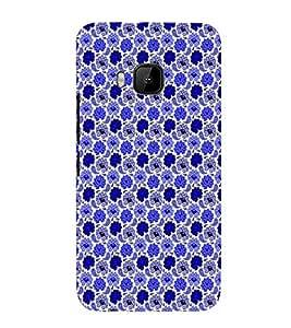 EPICCASE bling flowers Mobile Back Case Cover For HTC One M9 (Designer Case)