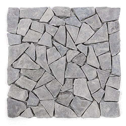 divero-11-matten-30-x-30cm-marmor-naturstein-mosaik-fliesen-fur-wand-boden-bruchstein-grau