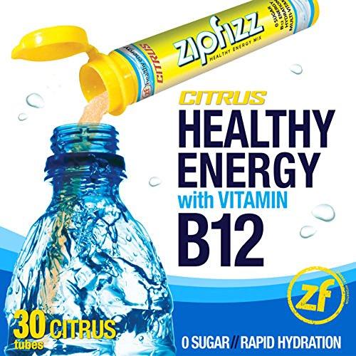 Zipfizz Citrus Healthy Energy Drink Mix - Transform Your Water Into A Healthy Energy Drink - 30 Citrus Tubes