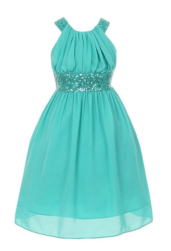 Cinderella Couture Big Girls' Sequin Pageant Dress Criss Cross Open Back 5004