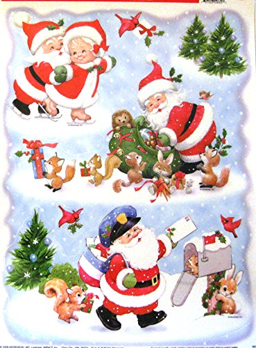 Christmas Window Clings (Santa Snow) - 1