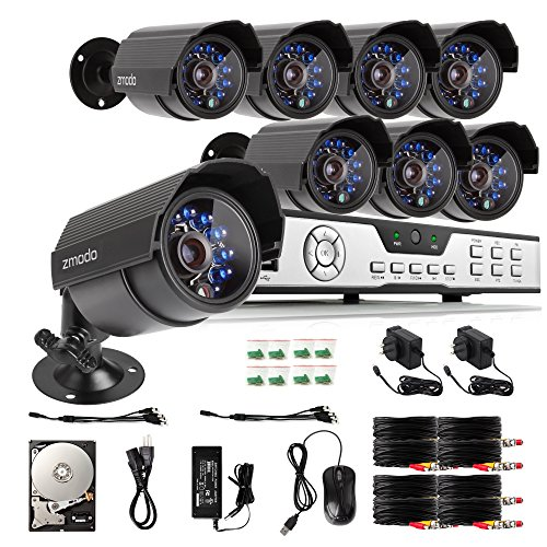 Buy Discount Zmodo 8CH HDMI 960H DVR 700TVL Outdoor Indoor Day Night IR-CUT CCTV Surveillance Home V...