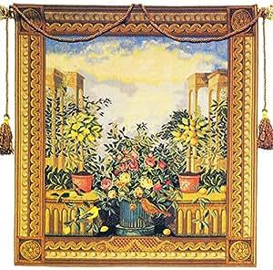 amazon com corona decor utopia european tapestry wall marca corona terra stella 8 quot deco hexagon c