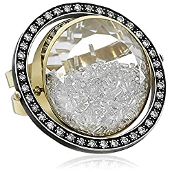 "Moritz Glik ""Kaleidoscope"" 18K Gold and Diamond Floating-Orbit Ring, Size 7"