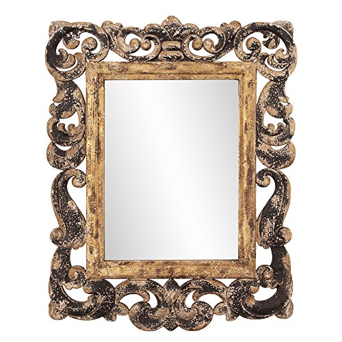 Howard Elliott 39013 Isaac Rustic Wood Mirror