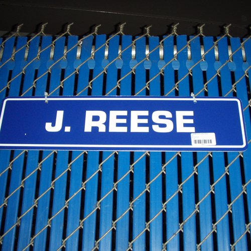 J REESE Parking Space Sign From Giants Stadium coupon codes 2015
