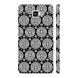 Enthopia Designer Hardshell Case Black Woodo Back Cover for Samsung Galaxy A7(2016)