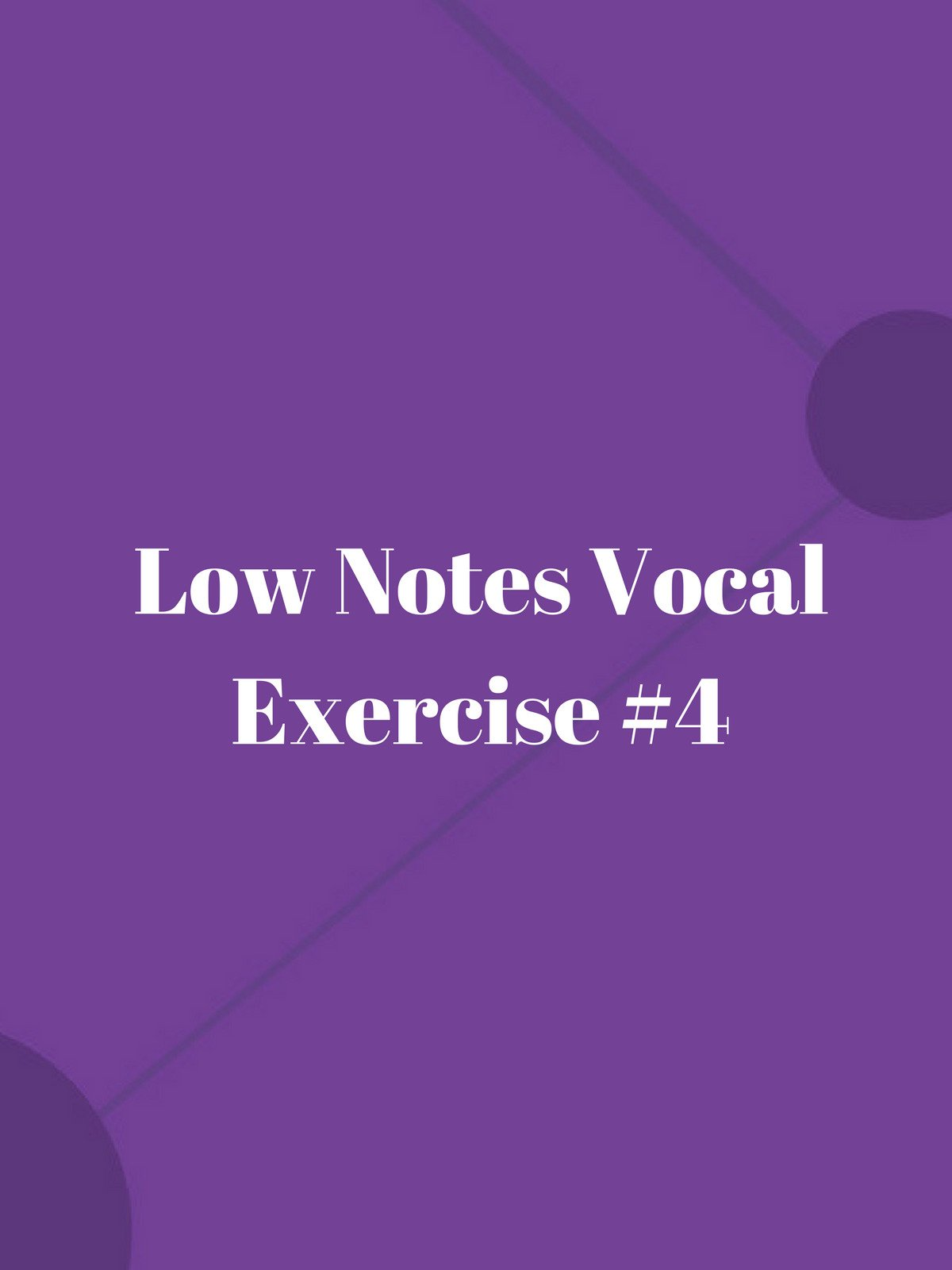 Low Notes Vocal Exercise #5 on Amazon Prime Video UK