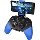 Mobile Game Controller, PowerLead PG8721 Wireless Turbo Combo Key Mapping Mobile Gamepad Compatible with iOS Android iPad Tablet