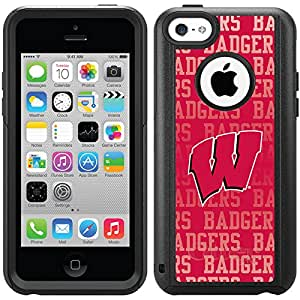 Coveroo Commuter Series Cell Phone Case For iphone 5c - Retail Packaging - University of Wisconsin Repeat design