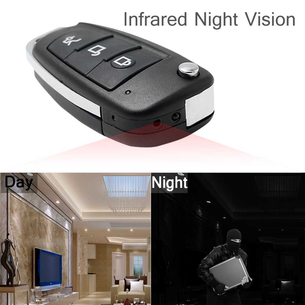 YYCAMUS 1080P DVR Multifunctional Hd Hidden Camera  Car Key Chain Mini Spy Cam DVR IR Night Vision S820 with Motion Dectect
