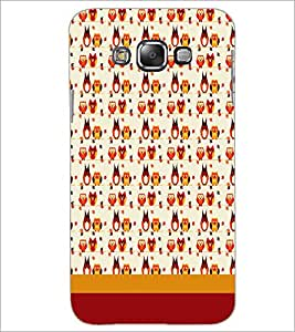 PrintDhaba Owl pattern D-1858 Back Case Cover for SAMSUNG GALAXY A8 (Multi-Coloured)