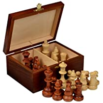 Tournament Chess Pieces w/ Wood Box