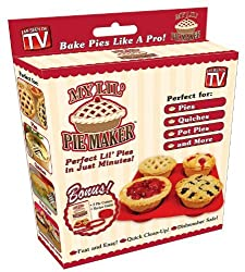 My Lil' Pie Maker with Bonus 2 Pie Cutters & Recipe Guide (Non-Stick Silicone Edge) Perfect Lil' Pies in Just Minutes! Pies, Quiches, Pot Pies & More - Fast & Easy Baking! Quick Clean-Up! Dishwasher Safe! Bake Pies Like A Pro!