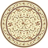 Safavieh Lyndhurst Collection LNH322A Ivory and Ivory Round Area Rug, 8 feet in Diameter (8' Diameter)
