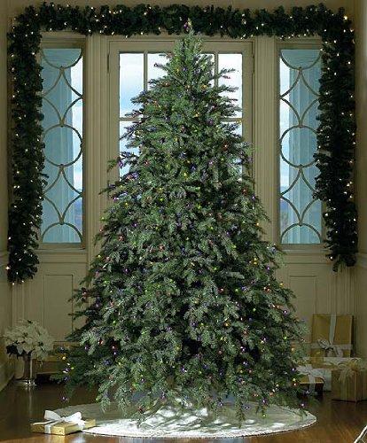 7.5' Downswept Hunter Fir Pre-Lit Artificial Christmas Tree - Multi Lights