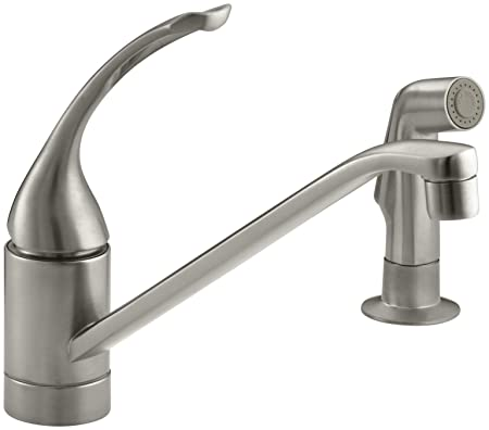 KOHLER K-15176-FL-BN Coralais Single Control Kitchen Sink Faucet, Vibrant Brushed Nickel