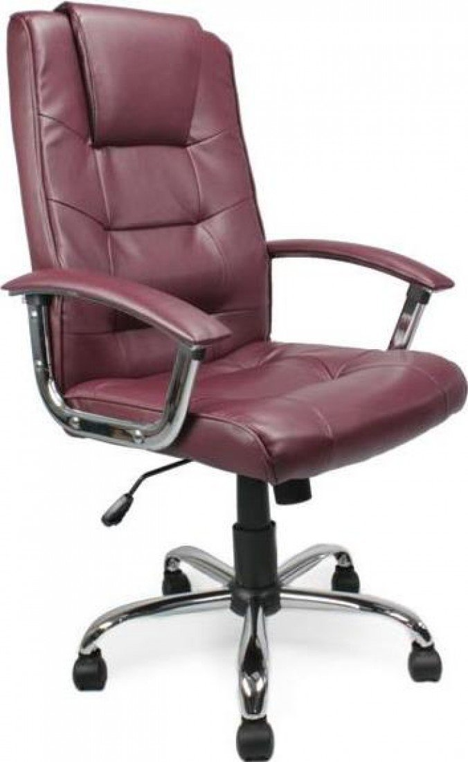Eliza Tinsley 2008ATG/LBY High Back Leather Faced Executive Armchair with Chrome Base   Burgundy       Office Productsreview